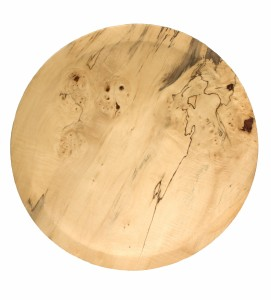 Spalted, Rippled, Burred Blond Chestnut Platter [SOLD]