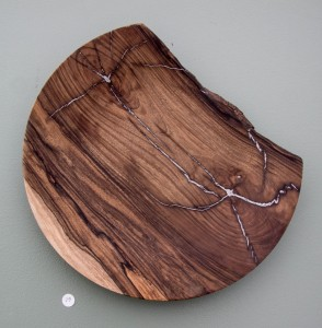 Black Walnut Bowl with Aluminium Inlay