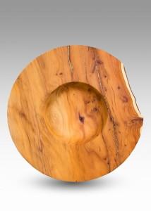 Brass Inlaid Yew Bowl